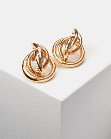 Lily & Rose Stud Earrings Gold