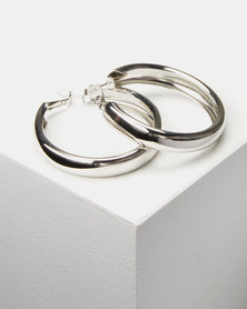 Lily & Rose Chunky Hoop Earrings Silver