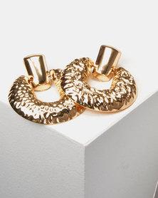 Lily & Rose Knocker Drop Earrings  Gold