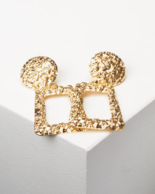 Lily & Rose So 80's Drop Earrings Gold-tone