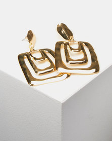 Lily & Rose Statement Drop Earrings Gold