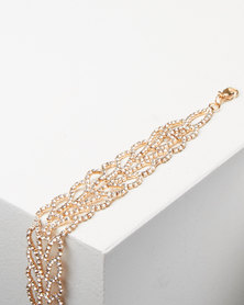 Adoria Luxe Diamante Bracelet Gold
