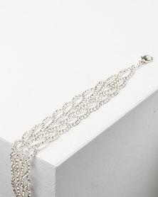 Adoria Luxe Diamante Bracelet Silver
