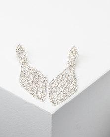 Adoria Chandelier Drop Earrings Silver