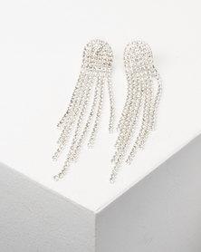 Adoria Statement Drop Earrings Silver