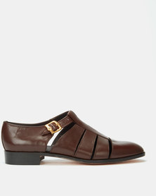 Crockett & Jones Buff Calf Shoes Teak