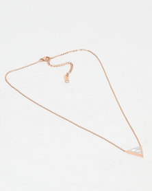 Steel My Heart Triangle Pendant Necklace Gold