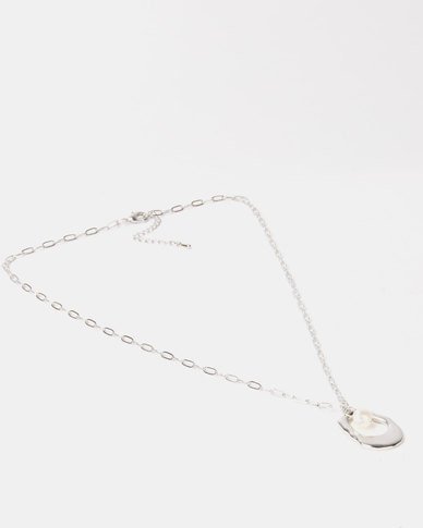 Lily & Rose Pendant Necklace Silver