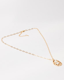 Lily & Rose Pendant Necklace Gold