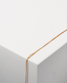 Lily & Rose Fine Herringbone Anklet Gold