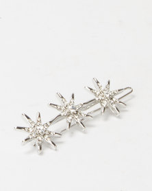 Lily & Rose Celestial Hair Clip Silver