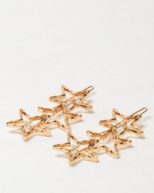 Lily & Rose 2 Pack Star Hair Clips Gold