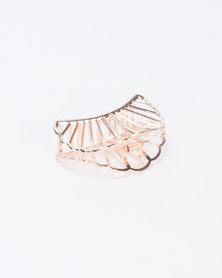 Lily & Rose Sea Shell Hair Clip Rose Gold-tone