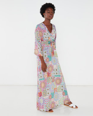 Utopia Boho Print Maxi Dress Purple