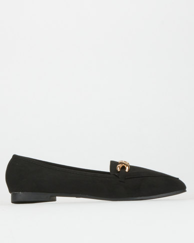 Legit S19 Loafers with Metal Infinity Trim Black
