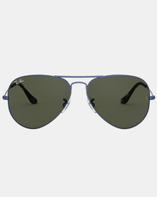 Ray-Ban Brown Aviator Large Sunglasses Sand/Transparent