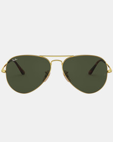 Ray-Ban Aviator Metal II Sunglasses Gold