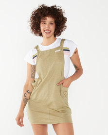 Lizzy Dyna Pinafore Dress Green