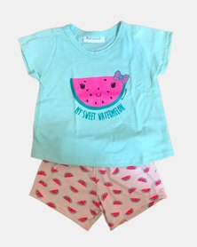 Cotton Club Kids Watermelon Summer Pyjamas