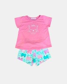 Cotton Club Kids Cat Summer Pyjamas