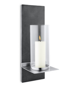 blomus Finca Stainless Steel Matt Wall Candle Holder with Candle