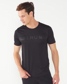 Under Armour Run Warped Short Sleeve Tee  Black