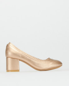 Rock & Co Pippa Girls Heels Champagne