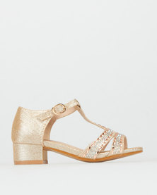 Rock & Co Kia Block Heels Gold