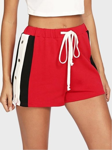 Elite Occasions Button Detail Side Drawstring  shorts