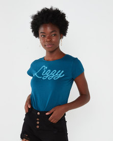 Lizzy Delaney Tee Blue