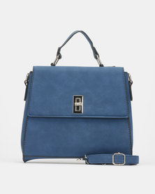 Utopia Front Flap Handbag Blue