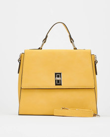 Utopia Front Flap Handbag Mustard