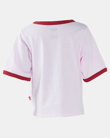 Little Girls (4-6x) Batwing Cropped Ringer Tee