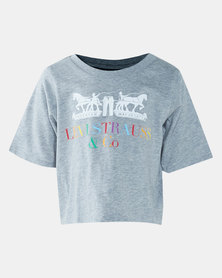 Little Girls (4-6x) Cropped Corporate Logo Tee