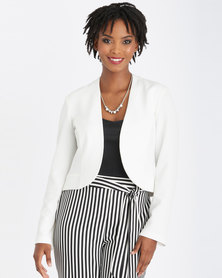 Contempo Fashion Panel Styled Jacket Ivory