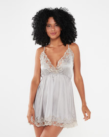 Bling Happiness Sensational Babydoll Lingerie Taupe
