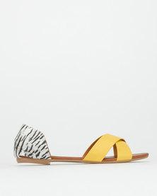 Miss Black Tamala Sandals Yellow