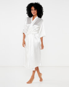 Bling Happiness Bride ivory longer lenght dressing gown