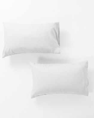 Utopia Pillow Case Set White