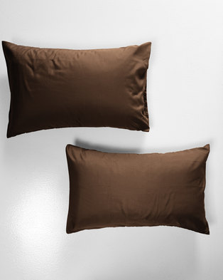 UTOPIAUtopia Pillow Case Set Chocolate
