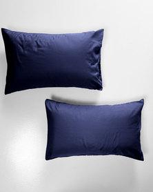 Utopia Pillow Case Set Navy