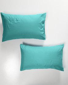 Utopia Pillow Case Set Turquoise