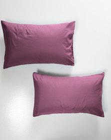 Utopia Pillow Case Set Purple