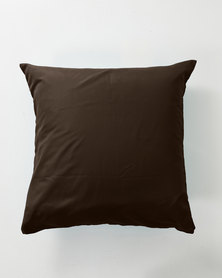 Utopia Pillow Case Single Chocolate