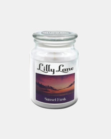 Lilly Lane Sunset Musk Scented Candle Large Glass Jar