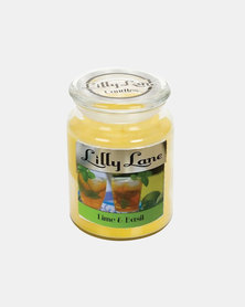 Lilliy Lane Candle Lime and Basil Infusion Large Glass Jar