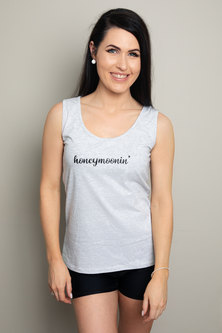 Love & Sparkles Honeymoonin Grey Vest with Black