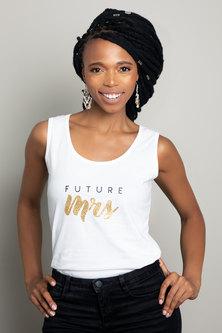 Love & Sparkles Future Mrs Vest White