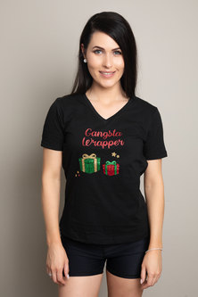 Love & Sparkles Gangsta Wrapper Christmas Tee Black