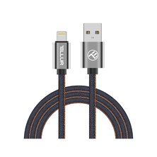 Tellur Data Cable USB-Lightning Mfi Denim 1m blue